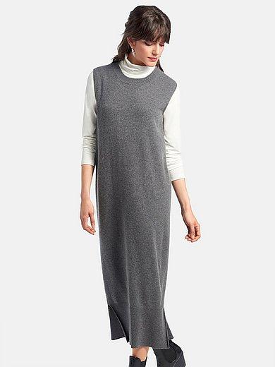 include - Mouwloze tricotjurk van 100% kasjmier