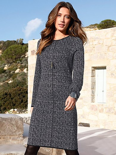 Peter Hahn - Knitted dress in 100% new milled wool
