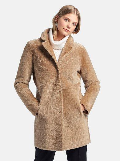 Fadenmeister Berlin - Tweezijdig te dragen lange jas van lamsvacht