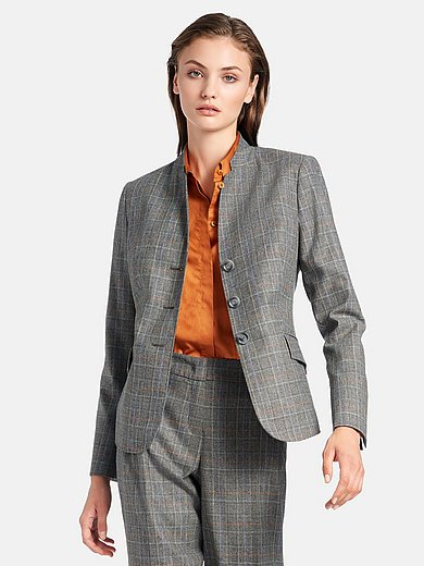 Fadenmeister Berlin - Blazer in woven check fabric