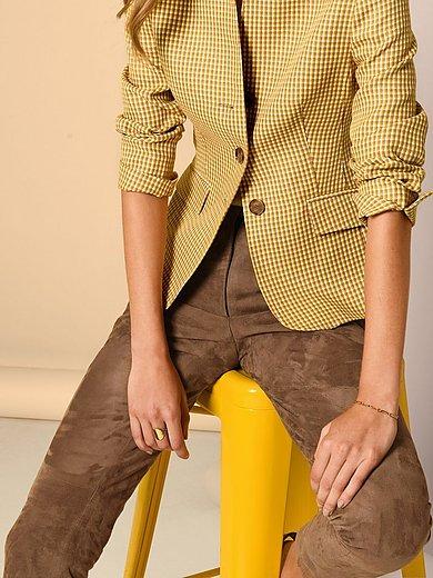 Fadenmeister Berlin - Leren broek in smal model van geitensuèdeleer