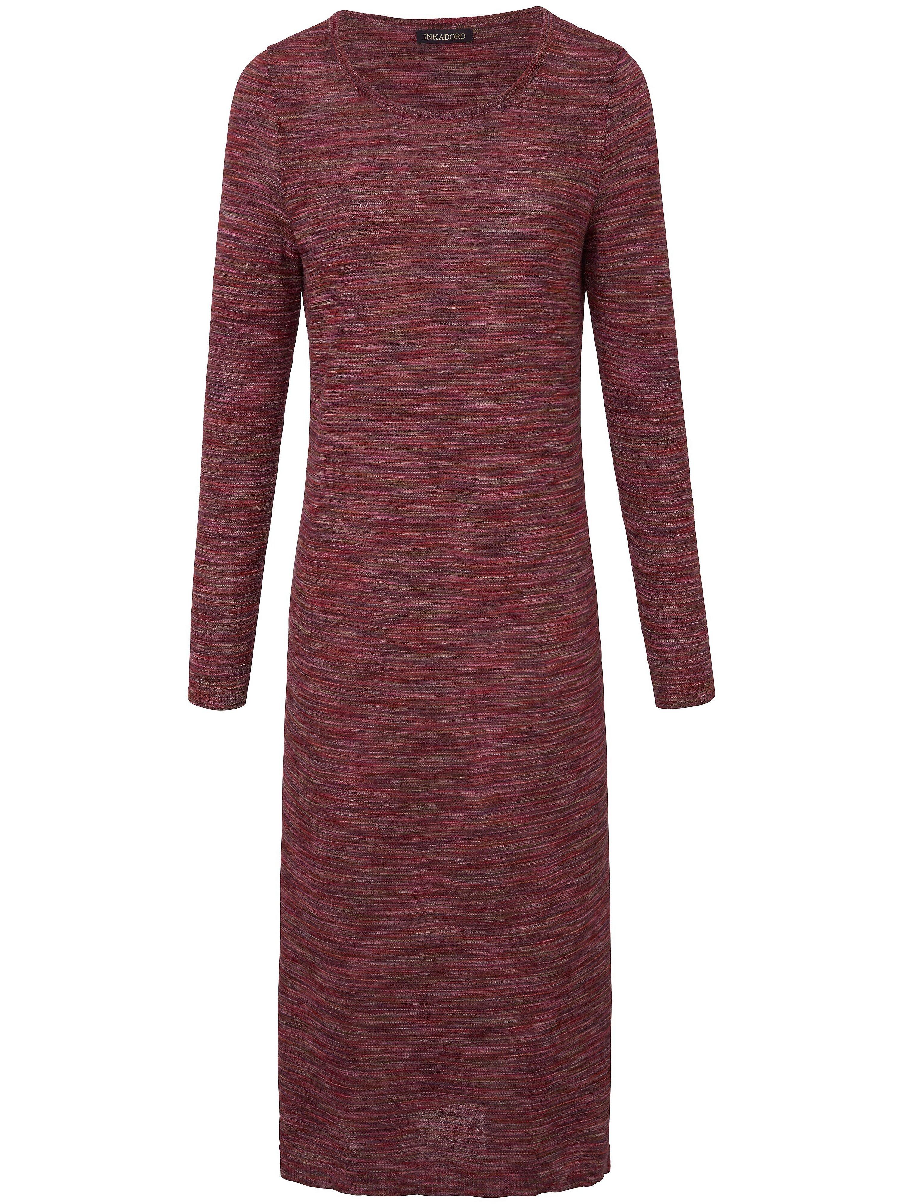 La robe maille 100% alpaga manches longues  Inkadoro multicolore taille 46