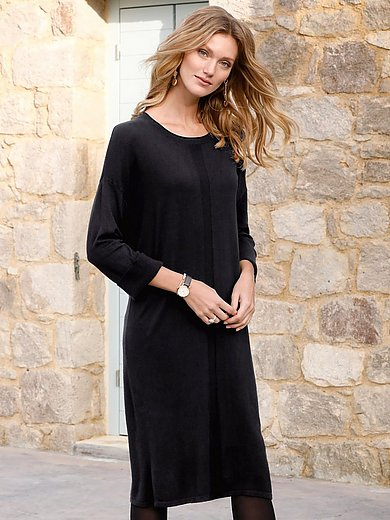 Peter Hahn - Dress with turn-up 3/4-length sleeves