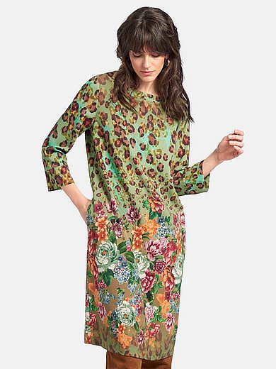 portray berlin - Dress with 3/4-length sleeves and boat neck