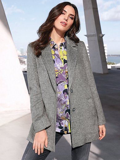 Emilia Lay - Short coat with checked pattern