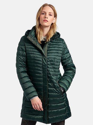 MYBC - Doorgestikte jas met staande kraag en capuchon
