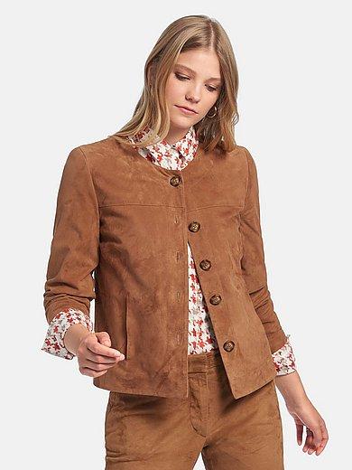 Fadenmeister Berlin - La veste en cuir velours de chevreau