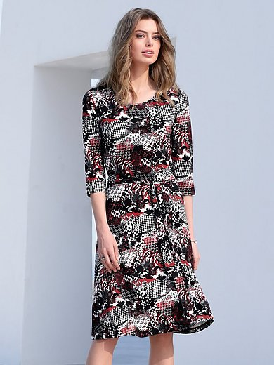 mayfair by Peter Hahn - Jersey dress with patch look motifs