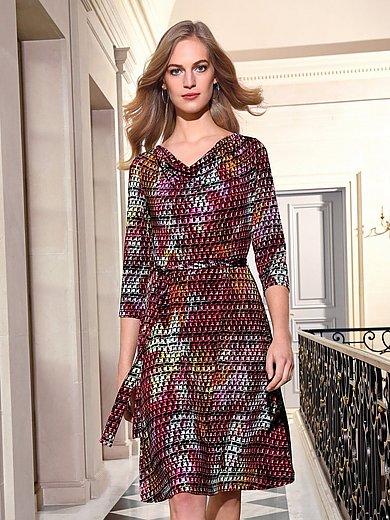Uta Raasch - Jersey-Kleid mit Wasserfall-Ausschnitt