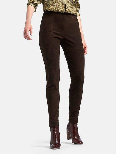 portray berlin - Leren broek van fijn suèdeleer in extra smal model