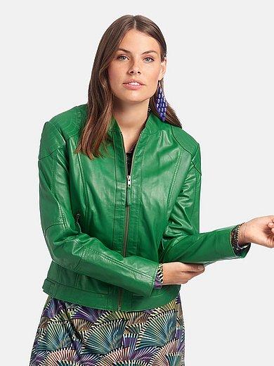 Emilia Lay Skinnjacka med ståkrage grön