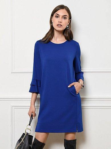 Riani - Jersey-Kleid mit doppeltem Volant am Armabschluss