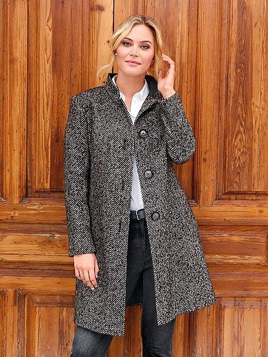 Anna Aura - Le manteau doux et légèrement évasé, col montant