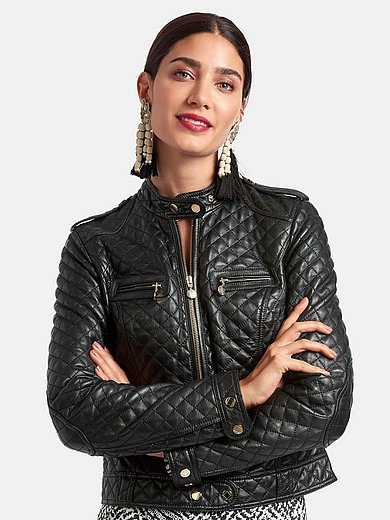 Laura Biagiotti Roma - Lambskin nappa leather jacket with elbow patches