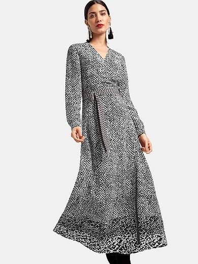 Laura Biagiotti Roma - Maxi wrap dress with long sleeves
