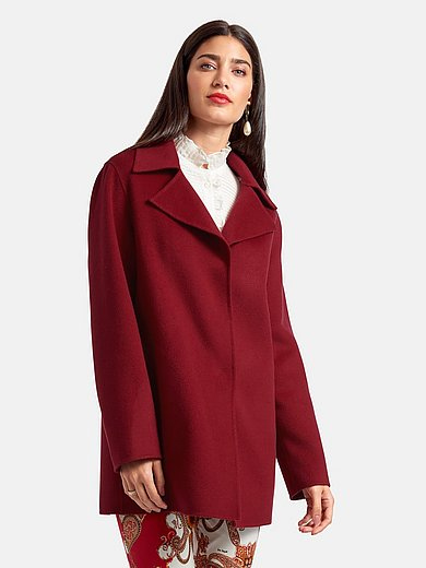 Laura Biagiotti Roma - Flared coat made of double-woven fabric
