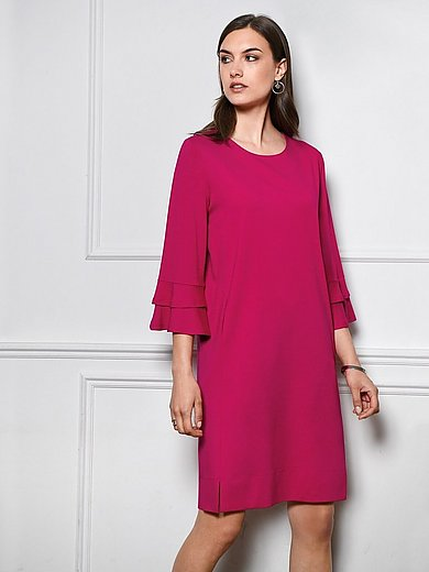 Riani - Jersey dress with a double flounce at the cuffs