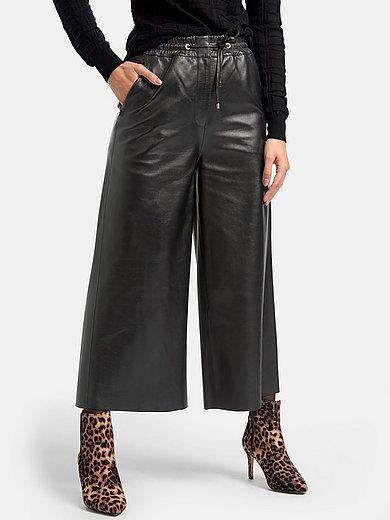 Laura Biagiotti Roma - Leather culottes in lambskin nappa