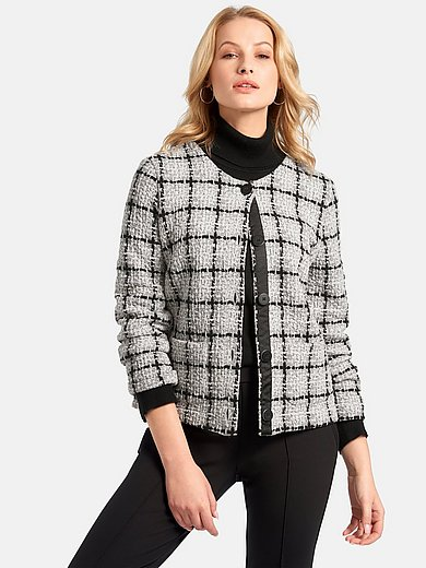 Basler - Jersey jacket with check pattern