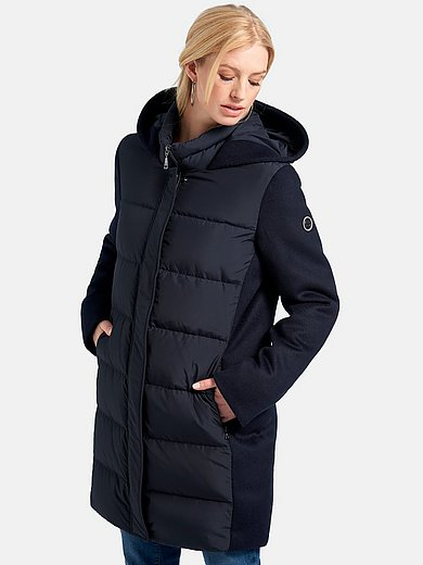 Basler - Long down jacket with stand-up collar