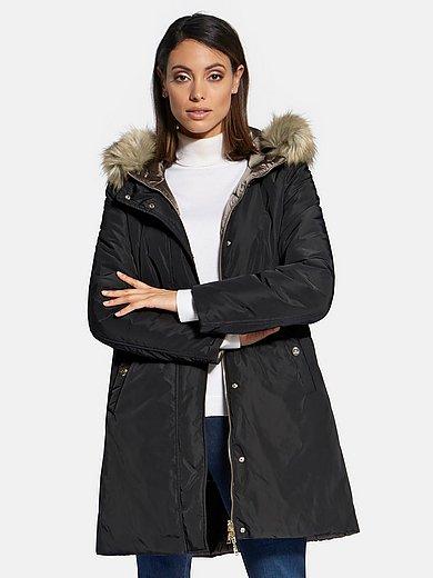 Basler - Reversible jacket with faux fur trimmed hood