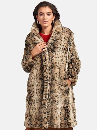 Emilia Lay - Fake fur-jas met animal-print