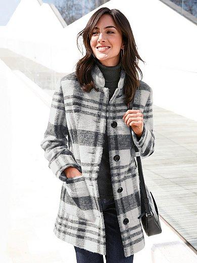 Peter Hahn - La veste à carreaux en pure laine, col officier