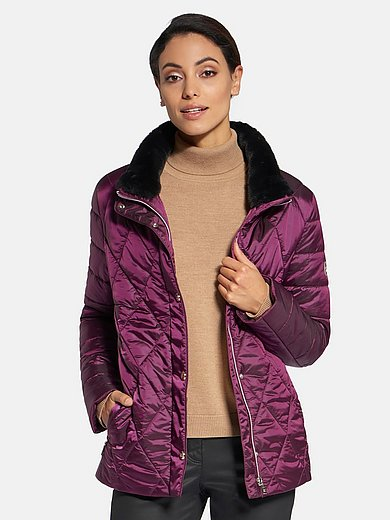 Basler - Quilted jacket with faux fur trimmed collar