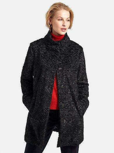 Basler - Lange jas staande kraag en twee zakken
