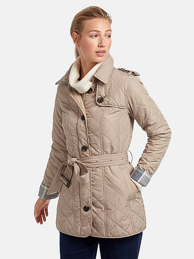 Barbour - Coat with padded diamond quilting