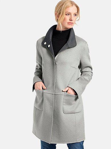 Basler - Keerbare lange jas met staande kraag