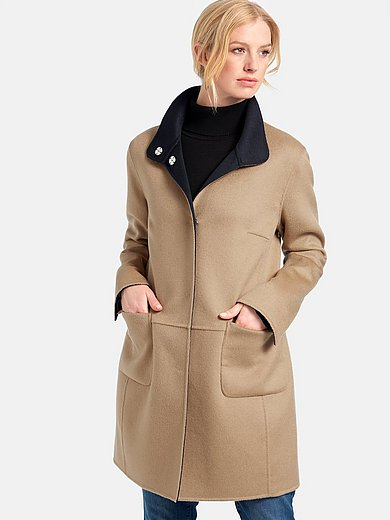 Basler - Reversible long jacket with stand-up collar