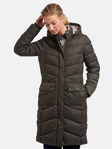 Barbour - Doorgestikte jas met hoog te sluiten staande kraag