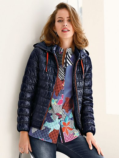 Looxent - Quilted jacket with zip-off hood