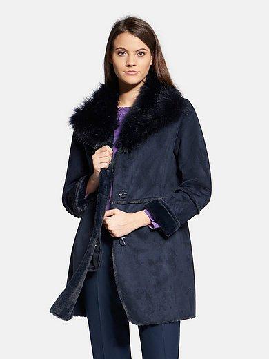Basler - Faux suede coat with faux fur interior
