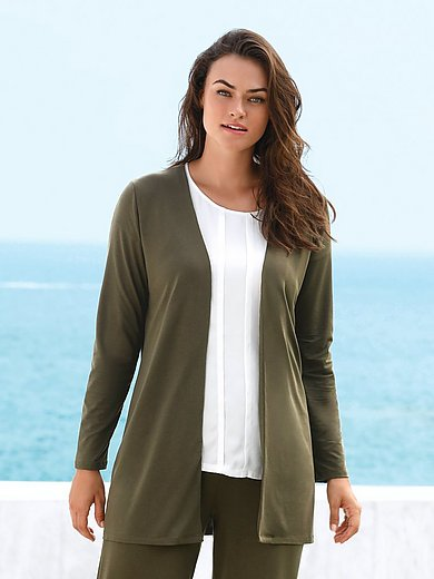 Emilia Lay - Jersey-Jacke mit Reverskragen