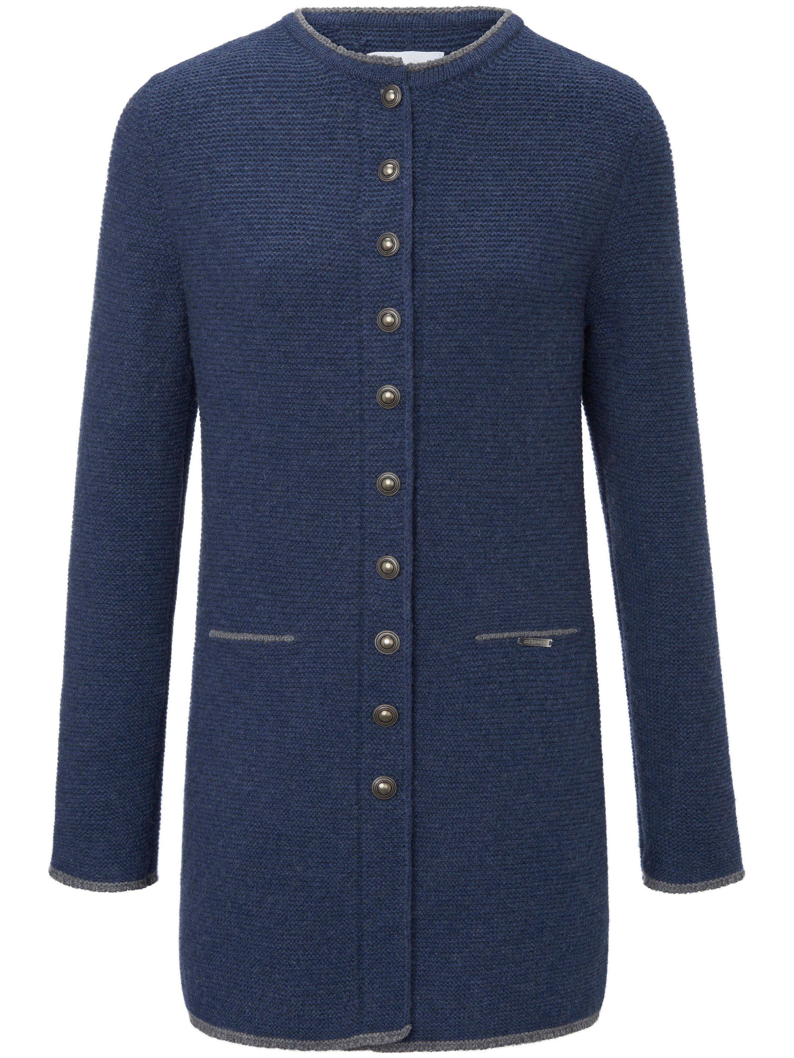 La redingote Lotte 100% laine vierge  Giesswein bleu taille 52