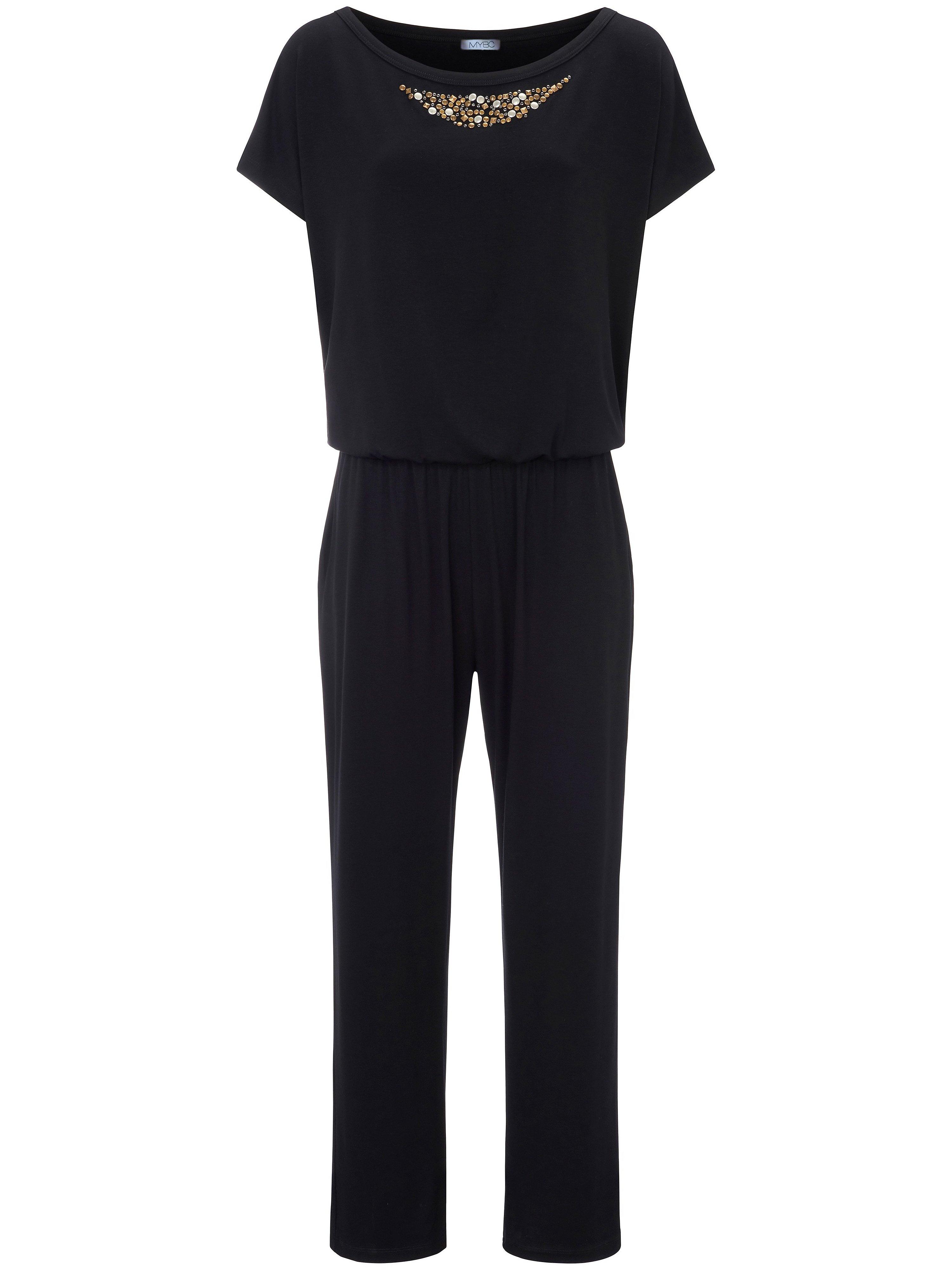Jersey-jumpsuit Van MYBC zwart