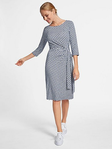 Uta Raasch - Jersey-Kleid zum Schlupfen - Blau/Weiß