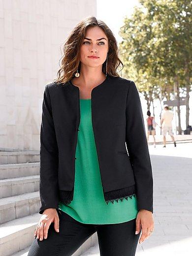 Emilia Lay - Le blazer, coupe épurée, fermeture par crochets