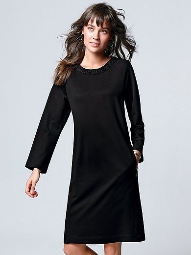 Margittes - Jersey dress with 7/8-length raglan sleeves