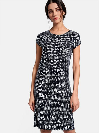 Peter Hahn - Jersey dress with round neckline and drop shoulder