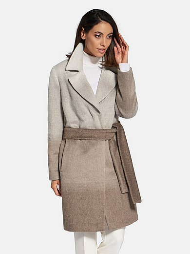 Basler - Coat with tie belt