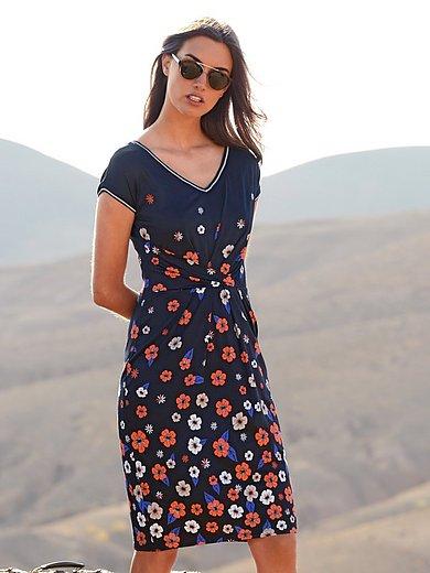 Laurèl - Jersey-Kleid mit V-Ausschnitt
