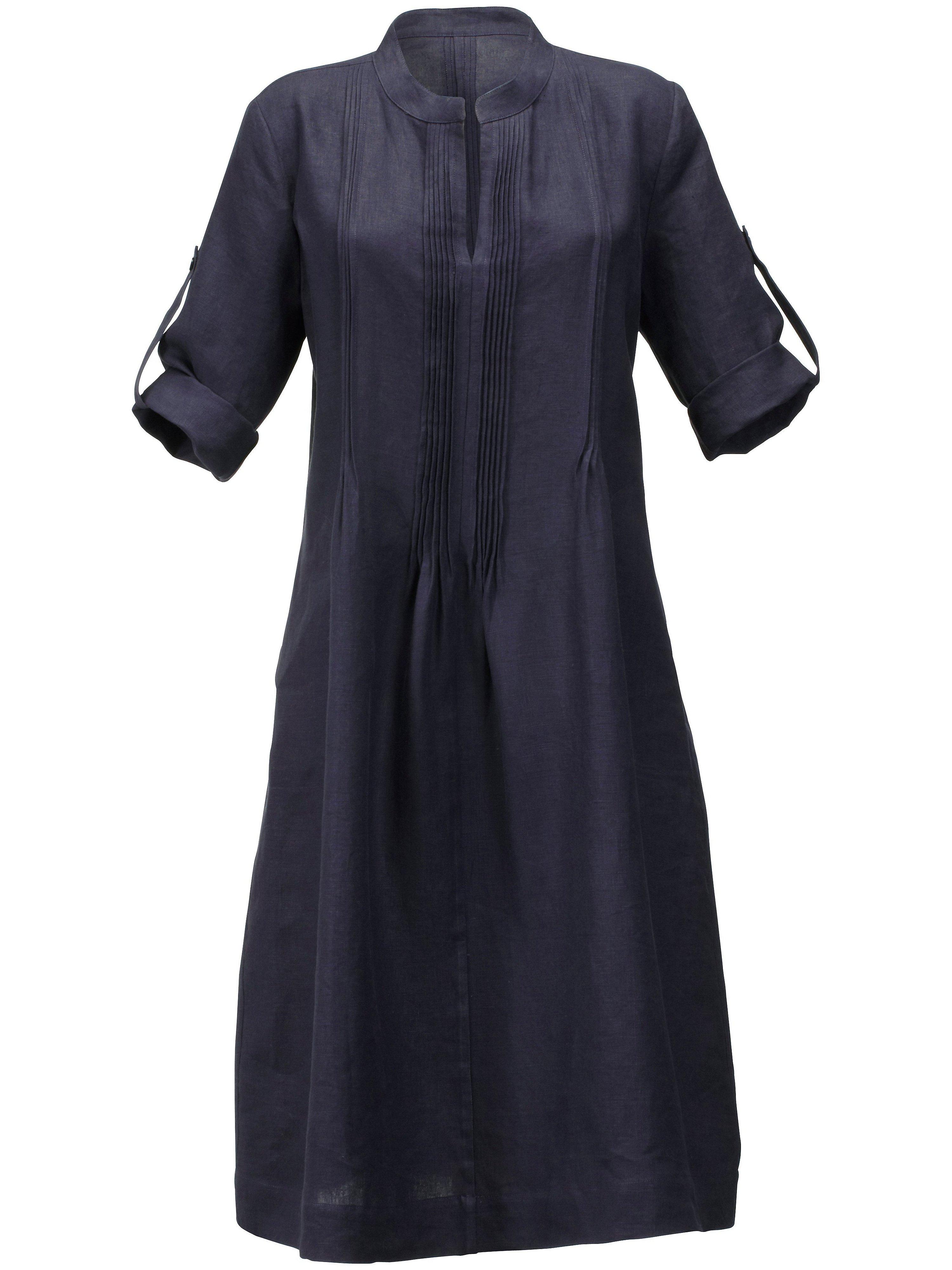 Jurk van 100% linnen Van Anna Aura blauw