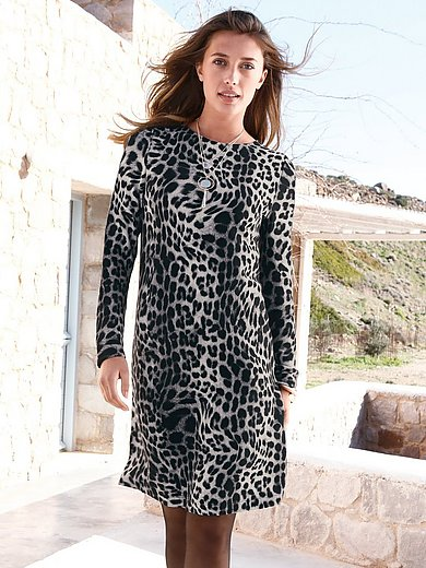 ZAIDA - Leopard print jersey dress