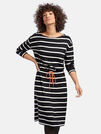 MYBC - Jersey dress with long sleeves and boat neck