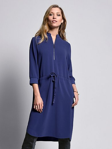 Bogner - Dress with ribbed edge 3/4-length sleeves