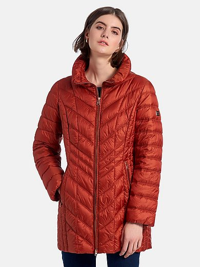 Betty Barclay - Long quilted jacket with stand-up collar