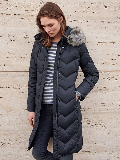 Fuchs & Schmitt - Quilted down jacket with faux fur trim